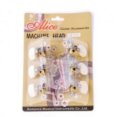 Комплект колковой механики 35мм для акустической гитары, (колки) Alice AOD-017AP