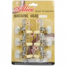 Комплект колковой механики для классической гитары, (колки), никель, AliceAOD-017CP